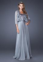 La Femme 19186 Strapless Jeweled Chiffon Dress