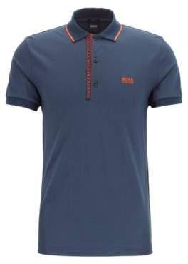 Slim-fit polo shirt in Pima-cotton Oxford piqu