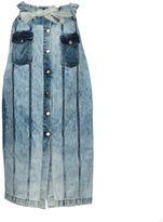 Each X Other Button Up Denim Skirt