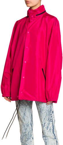 Balenciaga Hooded Wind-Resistant Jacket