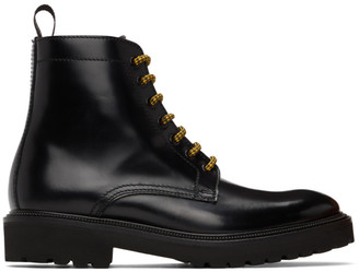 Paul Smith Black Farley Lace-Up Boots