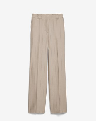 Express High Waisted Pinstripe Elastic Back Trouser Pant