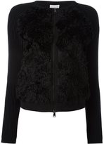 Moncler textured front ribbed cardigan - women - Cotton/Cashmere/Mohair/Wool - M