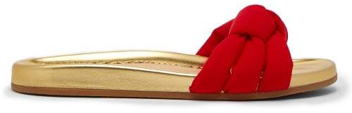 Charlotte Olympia X Adriana Degreas Knot Slides - Womens - Red