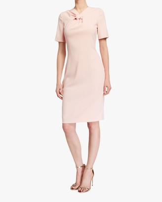 Badgley Mischka Knotted Neck Sheath Dress