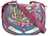 Roberto Cavalli embellished denim shoulder bag