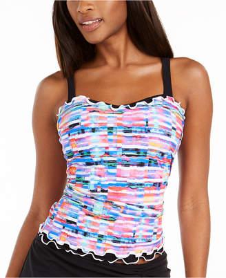 Gottex Tricolore Printed Underwire Tankini Top, Women Swimsuit