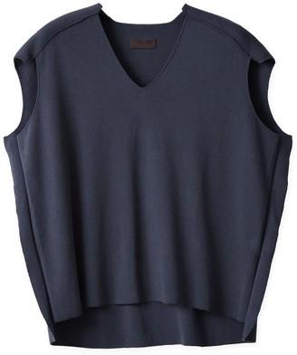 Oyuna Ziya Knitted Luxury Fossil Sleeveless Cotton Top