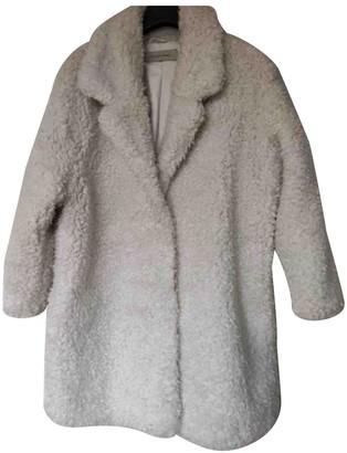 Gerard Darel Ecru Faux fur Coat for Women