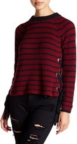 Romeo & Juliet Couture Knit Lace-Up Sweater