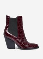 Dorothy Perkins Womens Lola Skye 'Luca' Burgundy Western Boots