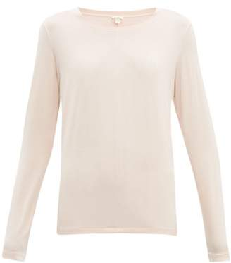 Hanro Long-sleeved Jersey Pyjama Top - Womens - Pink