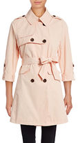 Vince Camuto Plus Roll-Sleeve Trench Coat
