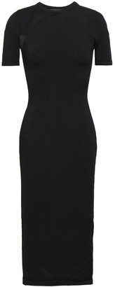 Cushnie Burnout-paneled Stretch-knit Dress