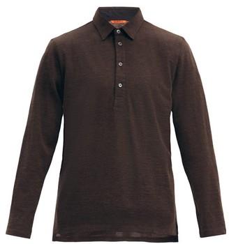 Barena Mezolera Knitted Wool-blend Polo Shirt - Brown
