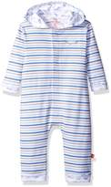 Magnificent Baby Hooded Air Stripes Coverall