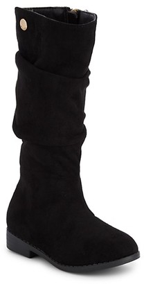 Tahari LIttle Girl's Girl's Faux Suede Tall Boots