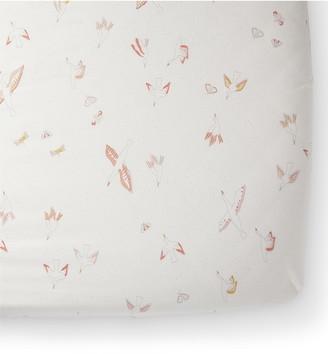 Pehr Birds of a Feather Cotton Crib Sheet