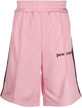 Palm Angels Side-Stripe Logo Track Shorts