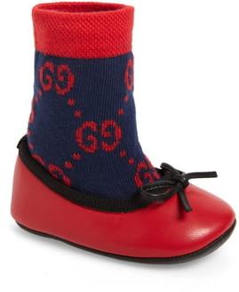 Gucci Felicie Logo Sock Ballet Flat