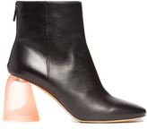 Ellery Sared plexi-heel leather ankle boots