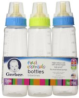Gerber First Essentials Bottles - Assorted Colors - 3 Pack