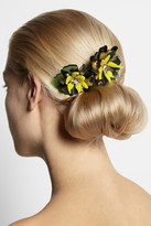 Swarovski VICKISARGE + Sam McKnight Floramorta acetate and crystal hair comb