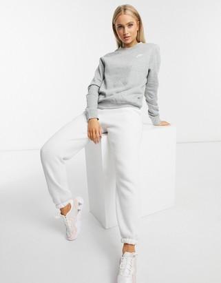 Nike gray club crew neck sweatshirt