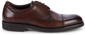 Canali Cap Toe Leather Derbys