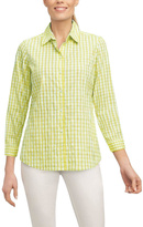 Foxcroft Crinkle Gingham Shirt