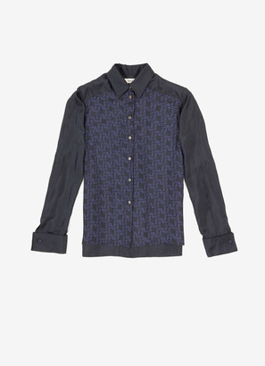 Bally Wings Printed Silk Shirt
