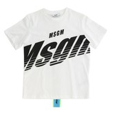 MSGM Kids Short-sleeved T-shirt With Logo And Back Band