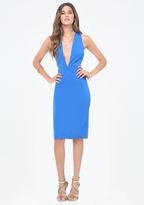Bebe Cutout Plunge Dress