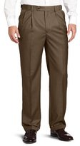 Louis Raphael ROSSO Men's Super 150 Twill Pleated with Comfort Waist Pant