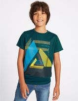 Marks and Spencer Graphic Print Short Sleeve Top (3-14 Years)