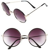 A. J. Morgan Women's A.j. Morgan 'Oh Nice' 55Mm Round Sunglasses - Black