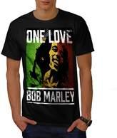 One Love Marley Pot Rasta Men XXXL T-shirt | Wellcoda