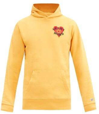Billionaire Boys Club Felted-patch Cotton-jersey Hooded Sweatshirt - Yellow