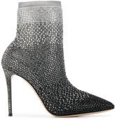 Casadei crystal embellished ankle boots