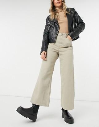 Dr. Denim Aiko wide leg cropped jeans in cashew