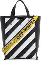 Off-White Diag Printed Leather Tote Bag