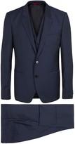 Hugo Arvon Blue Three-piece Wool Suit