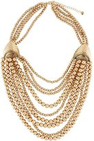 Lydell NYC Beaded Multi-Row Statement Necklace