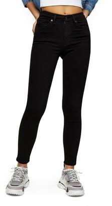 Topshop Jamie High Waist Black Jeans