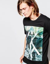 Calvin Klein Jeans T-shirt With Optical Ck Print - Black