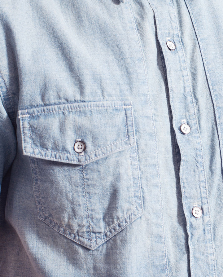 Rag and Bone Strider Short Sleeve Shirt - Moonshine