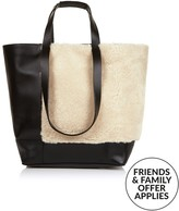 Whistles Hampson Shearling Tote Bag