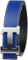 Moraner Golden fame New Designer H Buckle Belt, High Quality Luxury Men's Leather Waist Belts 32in