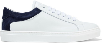 Iris & Ink Isabelle Suede-paneled Leather Sneakers
