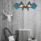 Heathfield & Co Lorne Pendant Lamp Medium Venetian Blue